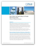 How to Select and Specify Mixers for Potable Water Storage Tanks [Whitepaper]