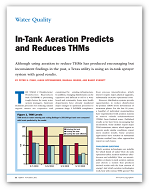 In-Tank Aeration Predicts and Reduces THMs