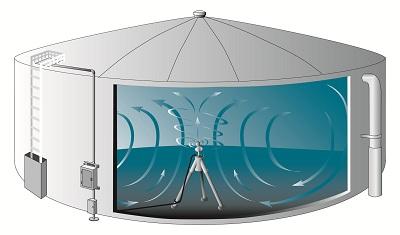 Tank with mixer illustration