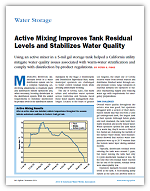Active Mixing Improves Tank Residual Levels & Stabilizes Water Quality
