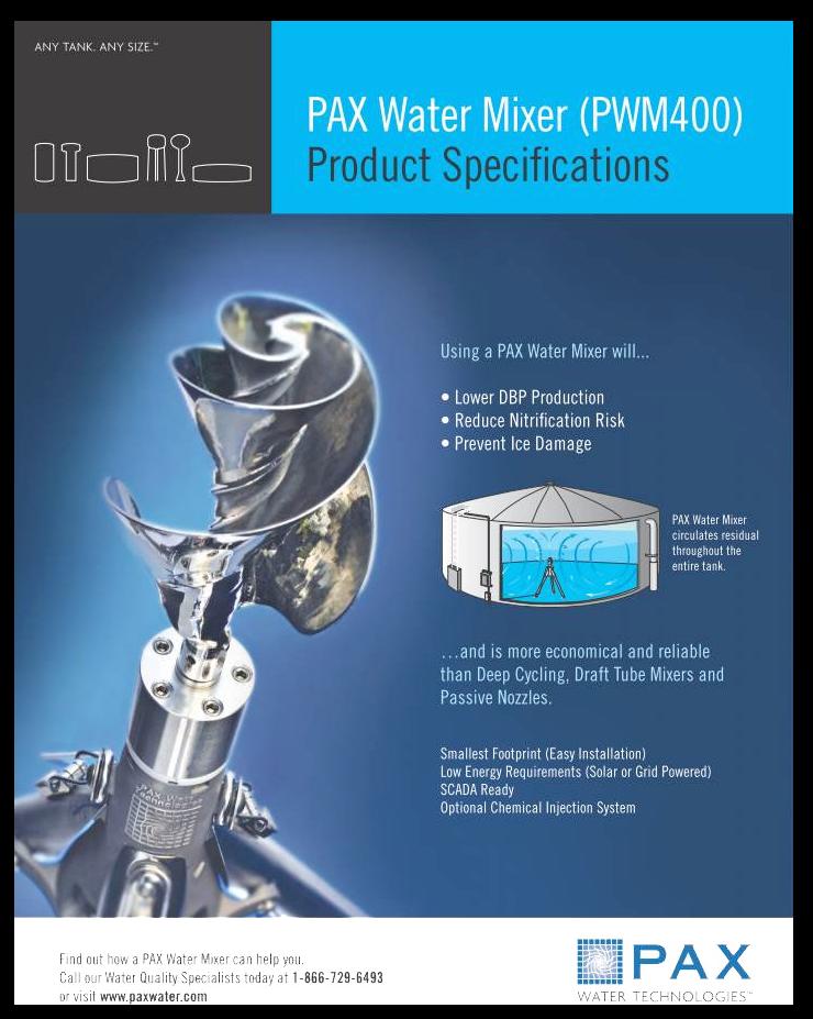 Datasheet   PAX Water Mixer (PWM400)